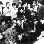 Eddie in front 2nd left with among other Billy Connolly (back left) and Gerry Rafferty (back 3rd left). From Ian McCalmans website