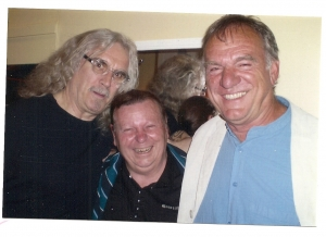 Eddie pictured recently with long time friends Billy Connolly & Ralph McTell