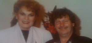 Eddie with Maureen O'Hara