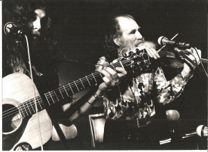 Taken in the early 70's, a hairy looking George on stage with his father Ted - one of Ireland's finest fiddle players of his generation.