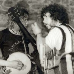 George & Davey tuning up 1979