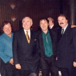 In Australia 1999, Joe, Eddie, then Prime Minister John Howard, George, ambassador to Australa John O'Brien and Paul